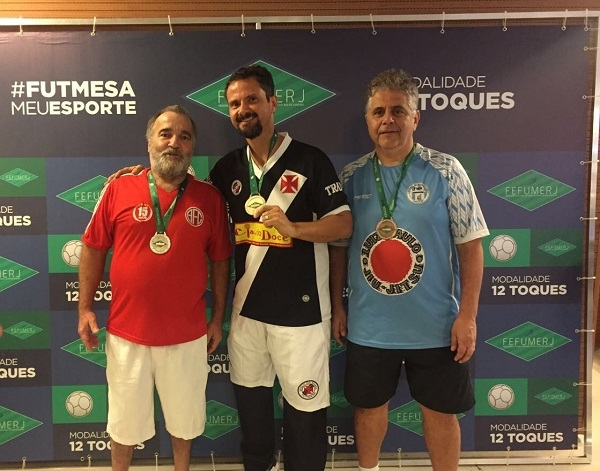 3º Fausto Tell (AFC), 1º Ricardo Antônio (CRVG) e 2º Brandão (FMN)