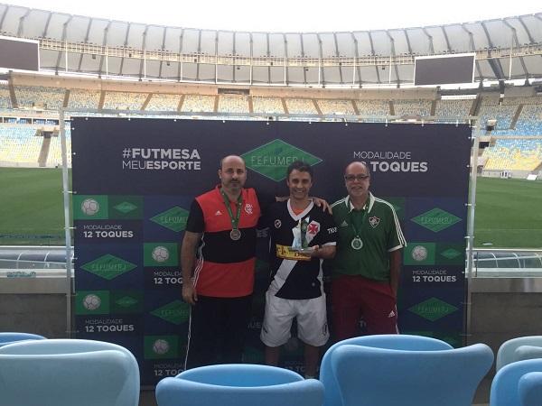 3º Marcelo Argolo (CRF), 1º Rodolfo José (CRVG) e 2º Reynaldo Antunes (FFC)