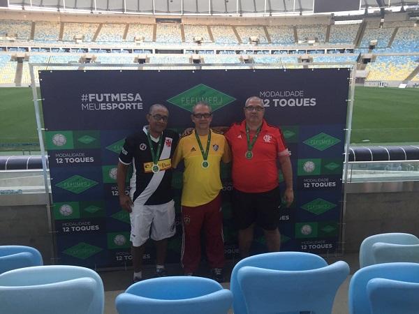 3º Marco Antônio (CRVG), 1º Ricardo Fernandes (FFC) e 2º Jessé (CRF)