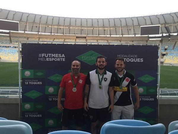 """3º Vinicius Mendes (CRF), 1º Thiago Cianella """"Japa@ (BFR) e 2º Igor Monteiro (CRVG)"""