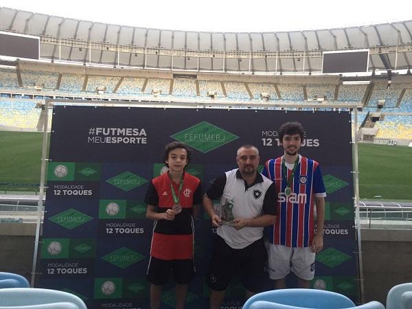 3º Daniel Couto (CRF), 1º Rogério Nunes (BFR) e 2º Rhaniery Jardim (FAC)
