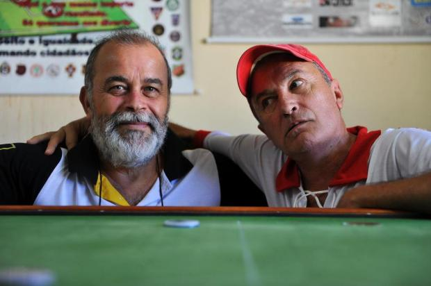 Zé Ademir (esq) e Ota Neto são fundadores de duas associações em Santa Maria (RS) Foto: Lucas Amorelli / New Co DSM
