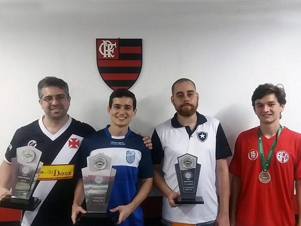 2º Evandro Gomes (CRVG), 1º Filipe Maia (GFC), 3º Amon Ra (BFR) e 4º Daniel Henze (AFC)