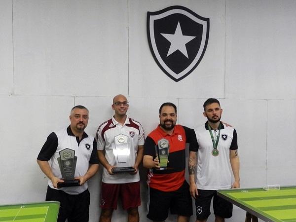 2º Rogerinho (BFR), 1º Marcos Antunes (FFC), 3º Vinicius Mendes (CRF) e 4º Japa (BFR)