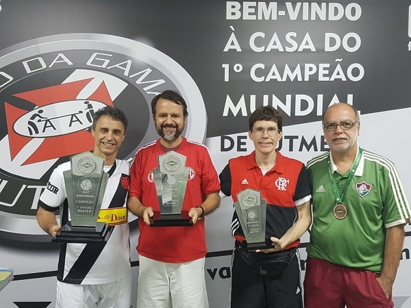 1º Rodolfo (CRVG), 2 º Moacir Henze (AFC), 3º Armando Amendolla (CRF) e 4º Reynaldo Antunes (FFC)