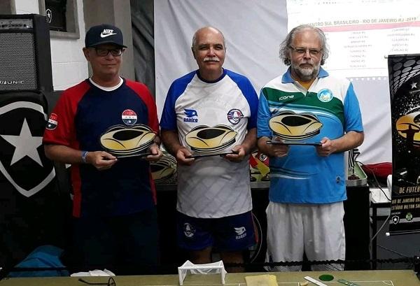 3°Cláudio Pinho (RJ), 2º Julio Nogueira (RJ) e 1º Claudio Savi (SC)